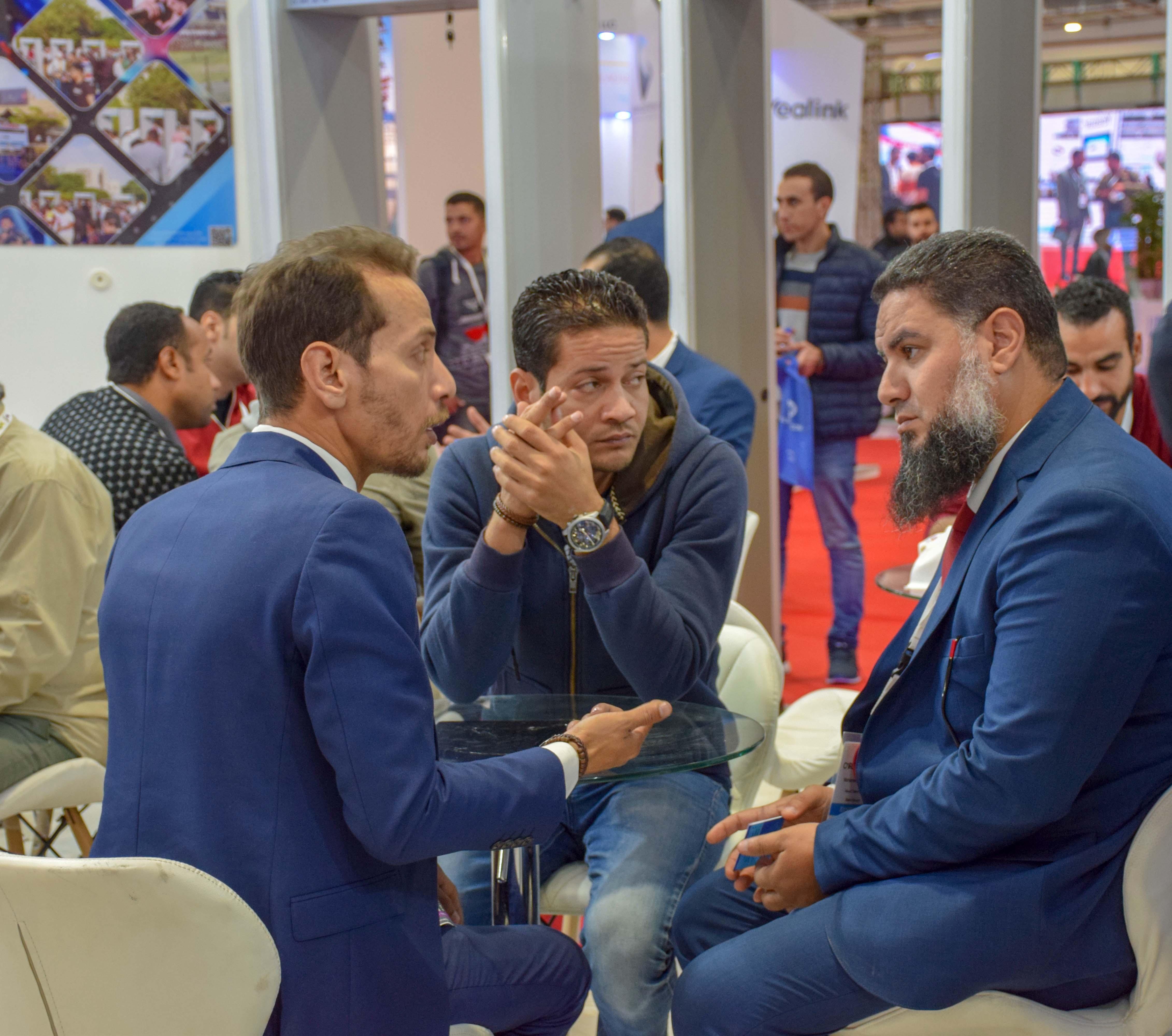 جناح الشركة في معرض القاهرة الدولى للإتصالات2019